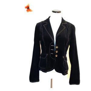 Loft Ann Taylor Black Front Button Blazer Size 4